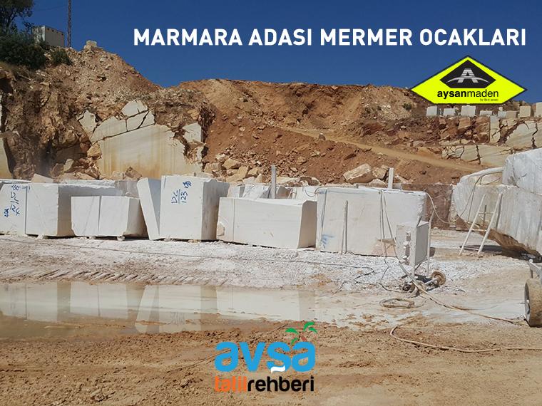 Marmara Adası mermer ocakları